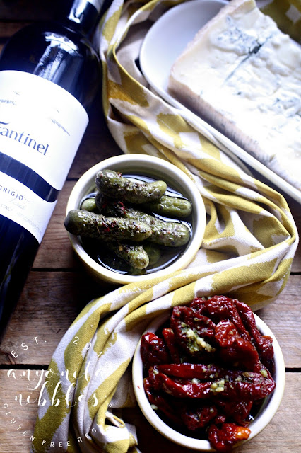 Sundried tomatoes and gherkins from Diforti