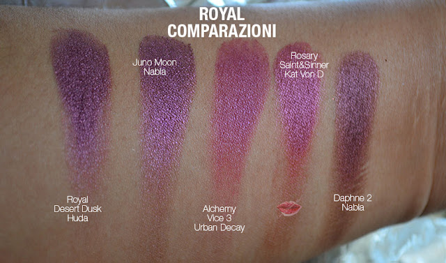 swatch dupe royal huda beauty desert dusk