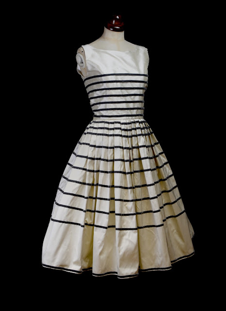 vintage style stripe design dress