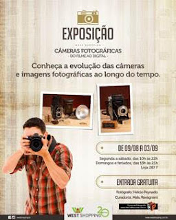 West Shopping recebe exposição gratuita 'Câmeras Fotográficas – Do Filme ao Digital'