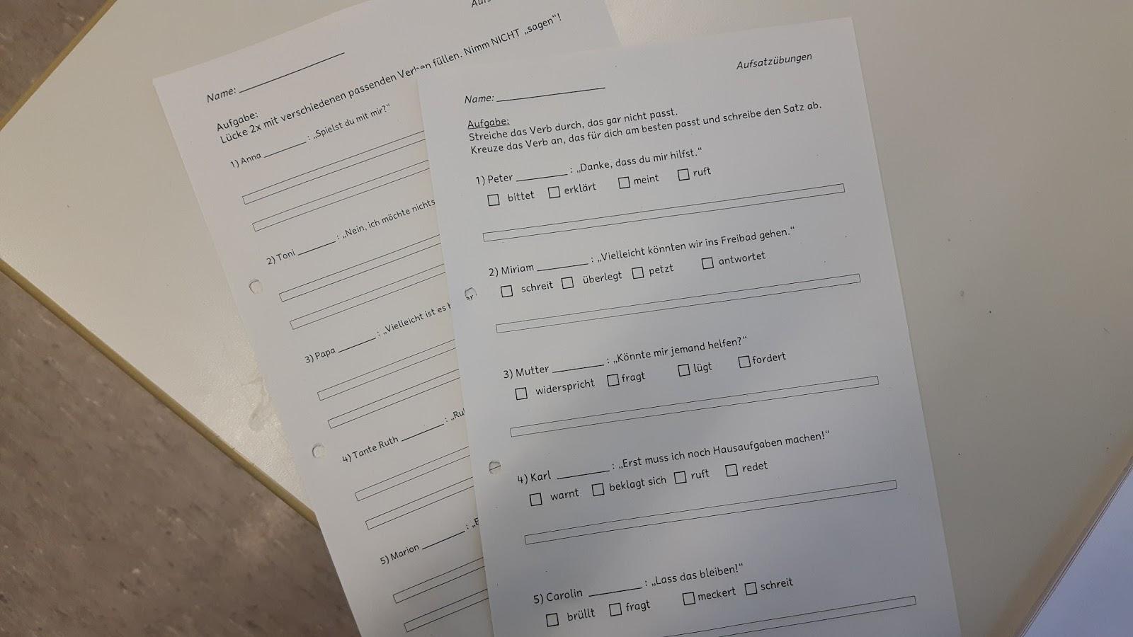 Kleine Aufsatzubung Wortfeld Sagen Grundschul Ideenbox