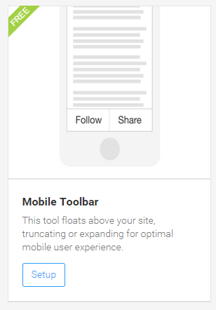 Mobile sharing buttons for blogger mobile view