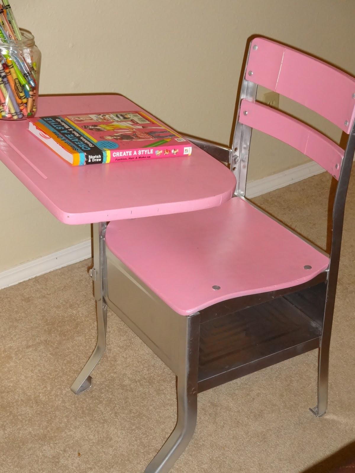 tornado alley creations before and after antique school desk redo. Black Bedroom Furniture Sets. Home Design Ideas
