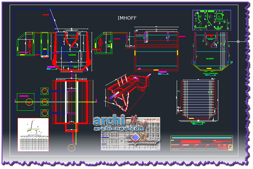 Download AutoCAD CAD DWG PERversion sanitary sewer Archi-new - Free