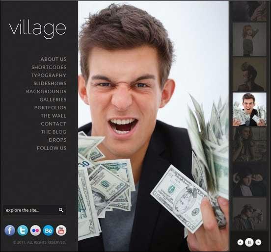 Village - An Awesome Fullscreen WordPress Theme