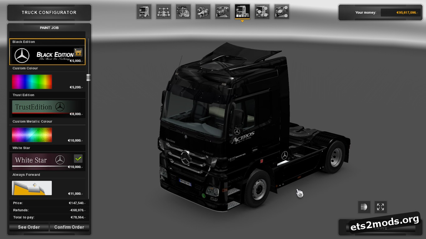 Black Edition Skin for Mercedes MP3