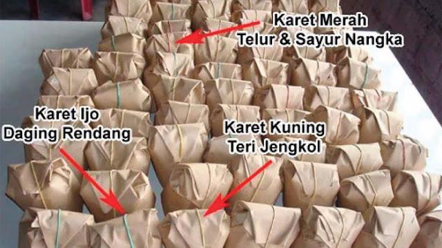 Nasi Bungkus Karet Merah, Ijo , Kuning , Update 4 November Ini Jadi Viral Di Medsos.