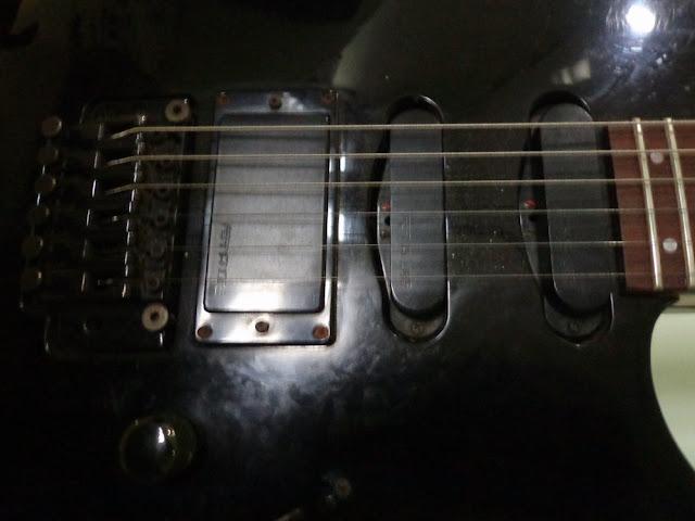 fernandes revolver 90 guitar bridge n pickups