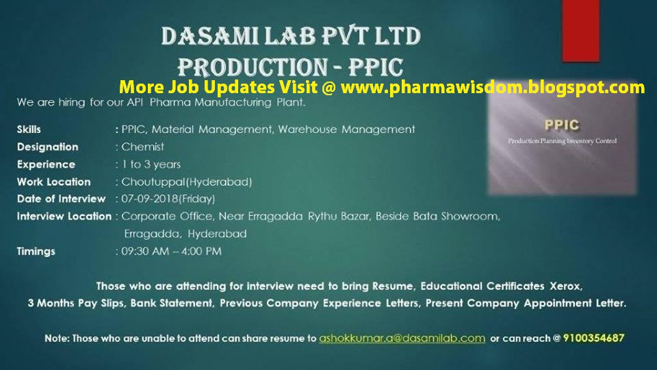 Ppic jobs in hyderabad