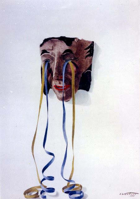 Acuarela surrealista lágrimas alegría pintor catalán Isidro Ventura