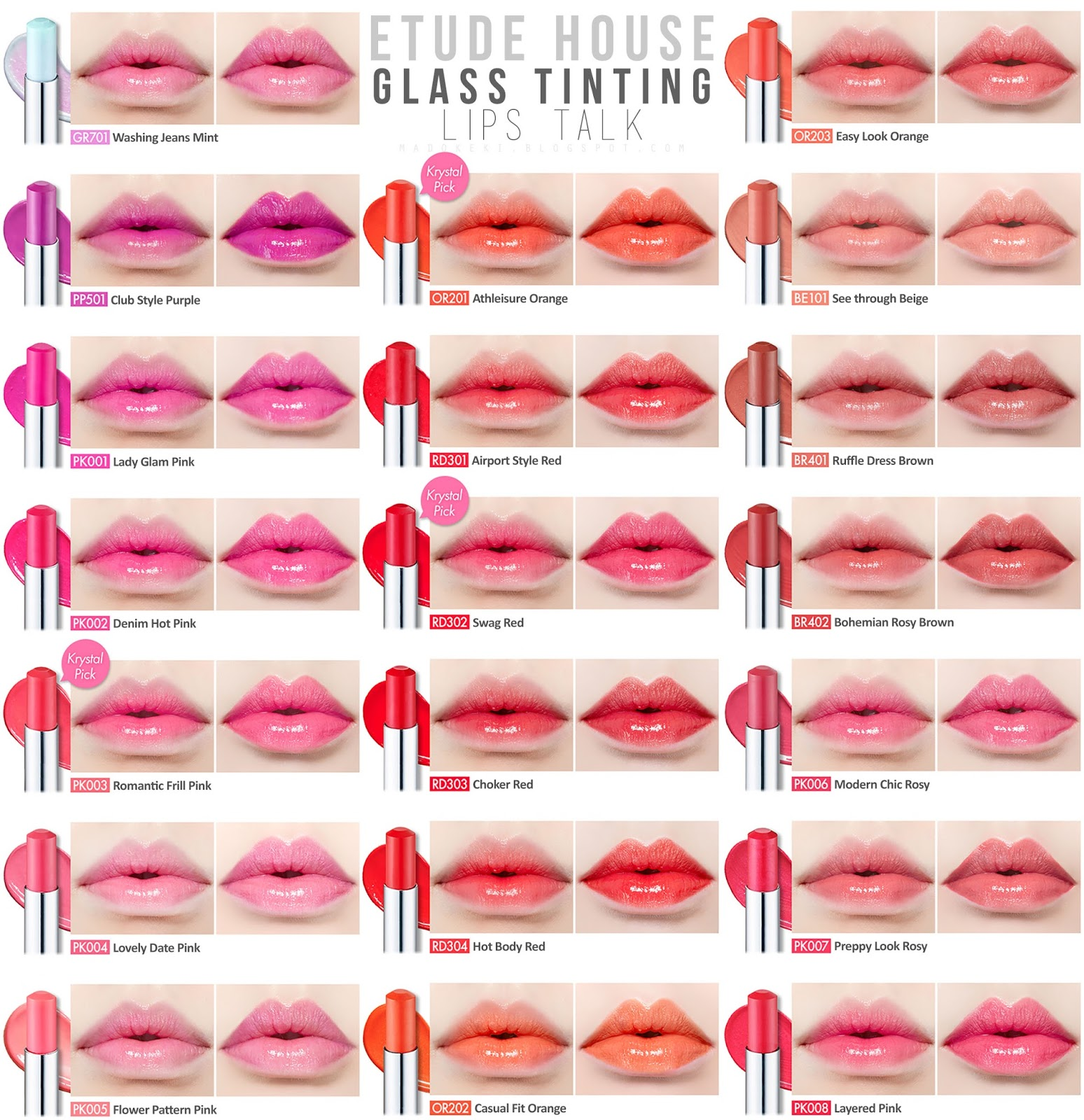 Dear My Glass Tinting Lips Talk - Color