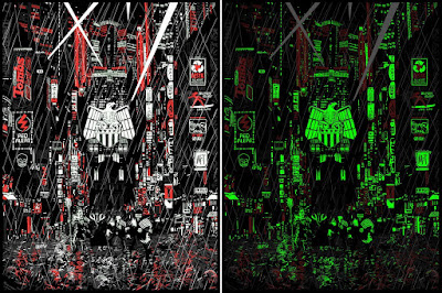 "2000 AD Mega City Series ""Countdown to Necropolis"" Glow in the Dark Variant Screen Print by Raid 71 & Vice Press"