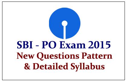 State Bank of India PO Exam 2015