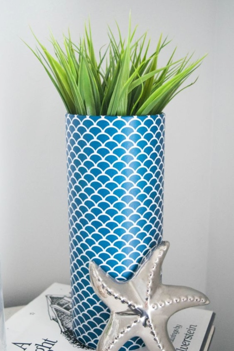 Wrapping Paper DIY Decorated Vase