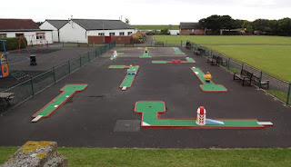 The Crazy Golf course at Fairhaven Lakes in Lytham and St Annes
