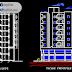 مخطط مشروع عمارة سكنية 7 طوابق 2 اوتوكاد dwg