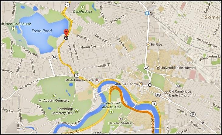 El Agua del Grifo a Examen en Cambridge: Mapa