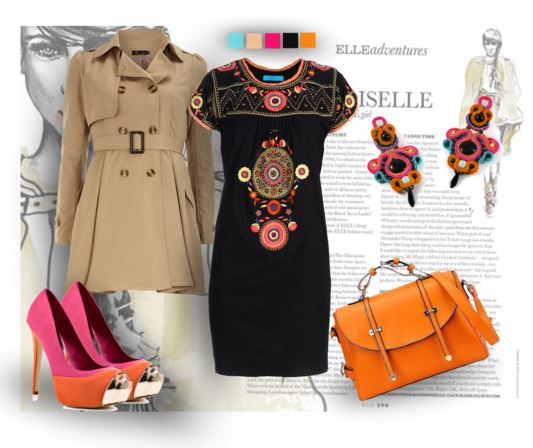 what to wear with soutache jewelry, soutache with clothes, soutache stylizations,soutache jewelry clothes inpiration mix, collage, bloggers style