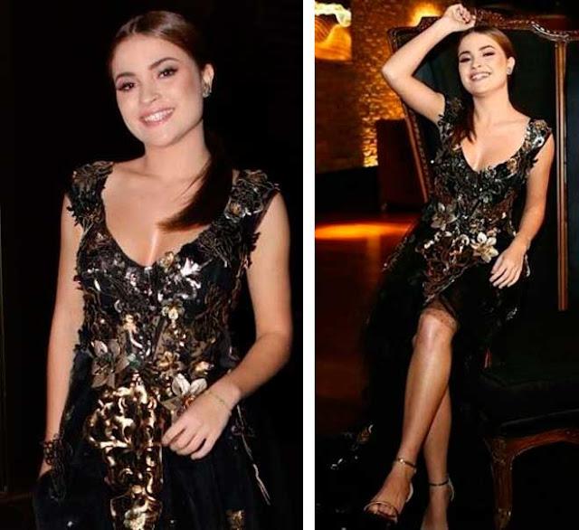 Raissa Chaddad vestido para receber convidados