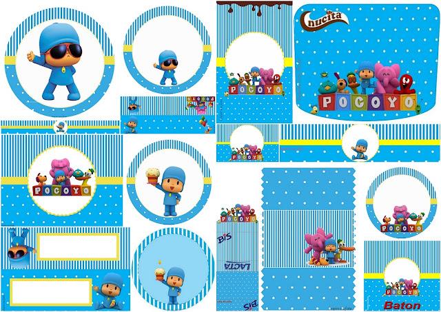 Sweet Pocoyo: Free Printable Candy Bar Labels.