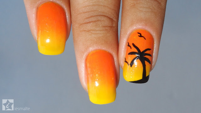 Unhas Decoradas - Pôr do Sol