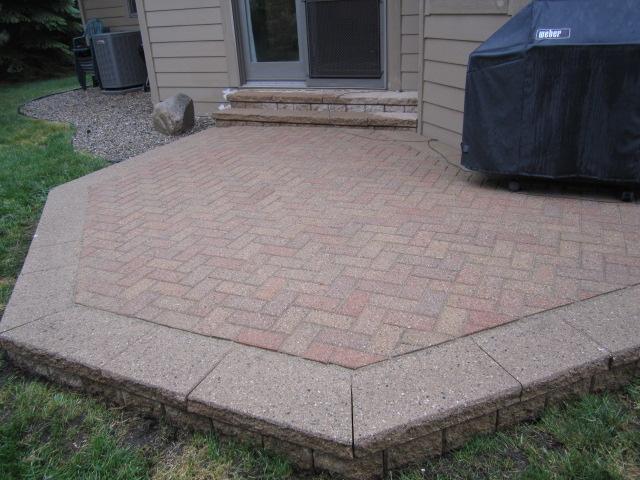 Brick Paver Patio Cost Laura Williams - Raised brick patio
