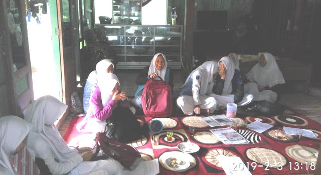 anak-anak ipnu SMK Khalilyah Bangsri Jepara