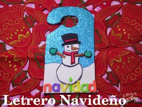 Letrero navideño para la puerta