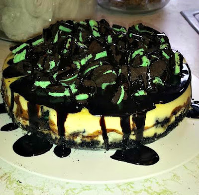 Mint Oreo Cheesecake!