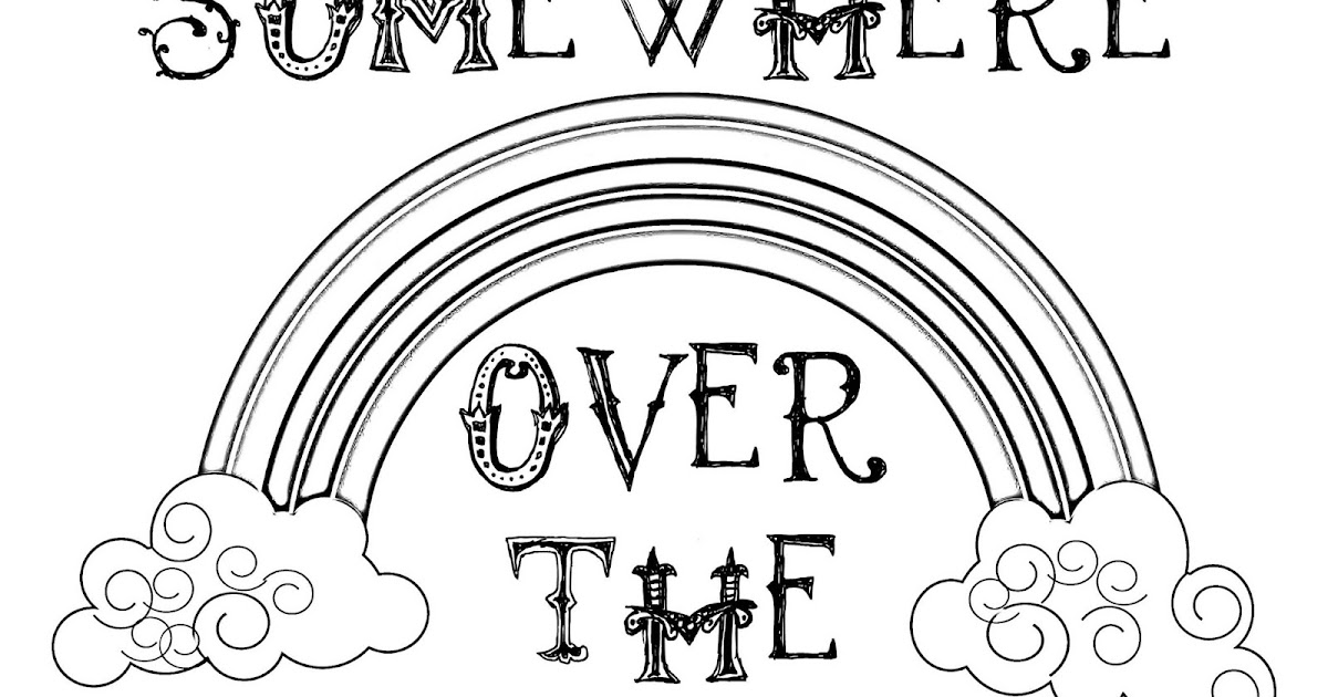 CJO Photo: St. Patrick's Day Coloring Page: Somewhere Over