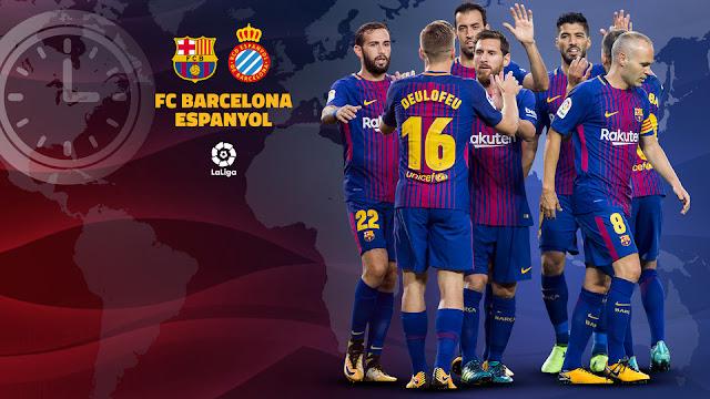 """ننشر تشكيل برشلونة اليوم 4-2-2018  برشلونة في مهمة صعبة أمام إسبانيول في الدوري الاسباني """"دربي كاتلونيا"""""""