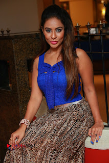 Telugu Actress Srilekha Reddy Latest HD Pos in Sleeveless Blue Top at Muse Art Gallery  0077.JPG