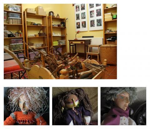 Marionetas en el taller