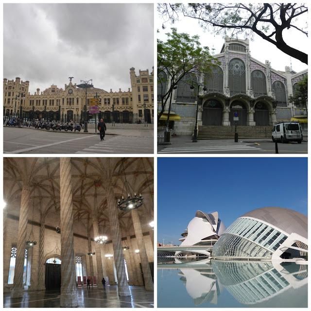Estació del Nord, Mercado Municipal, Ciudad de las Artes y las Ciencias e Lonja de la Seda - Valencia