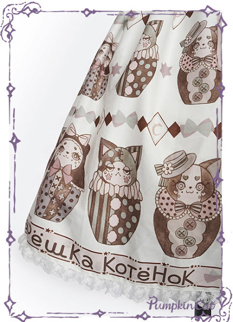 Pumpkin Cat Kitten Matryoshka Dolls JSK and LolitaWardrobe.com review ✨
