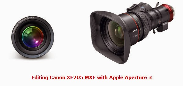 edit Canon XF205 MXF with Aperture 3