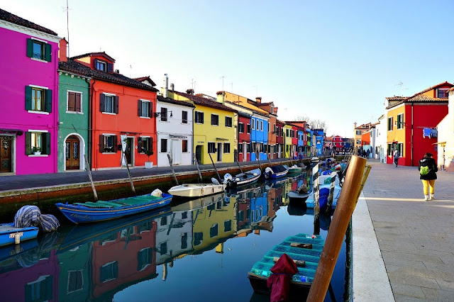 Ilha de Burano em Veneza na Itália