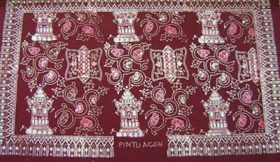 Batik Aceh motif Pintu Aceh