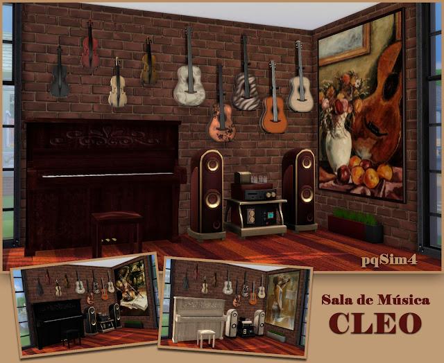 Sala de música. Sims 4 CC.