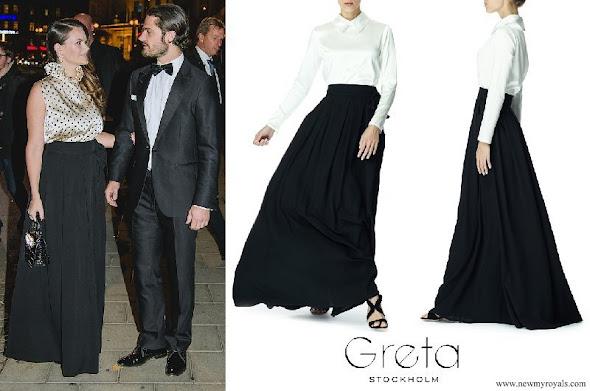 Princess Sofia wore Greta Stockholm skirt and blouse