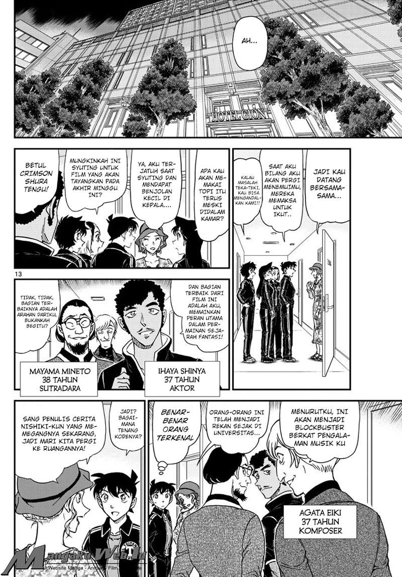 Detective Conan Chapter 1000 : Langit langit Merah Tua