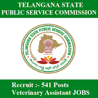 Telangana State Public Service Commission, TSPSC, PSC, Telangana, Veterinary Assistant, 12th, freejobalert, Sarkari Naukri, Latest Jobs, tspsc logo