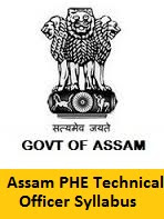 Assam PHE Technical Officer Syllabus