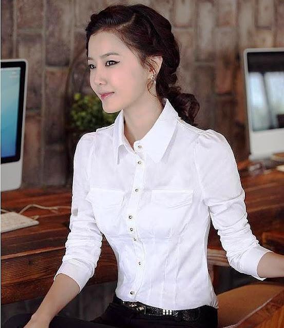 Model Kemeja Wanita Kasual Warna Putih Terbaru