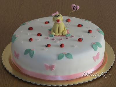 torta cagnolino coccinelle cuore