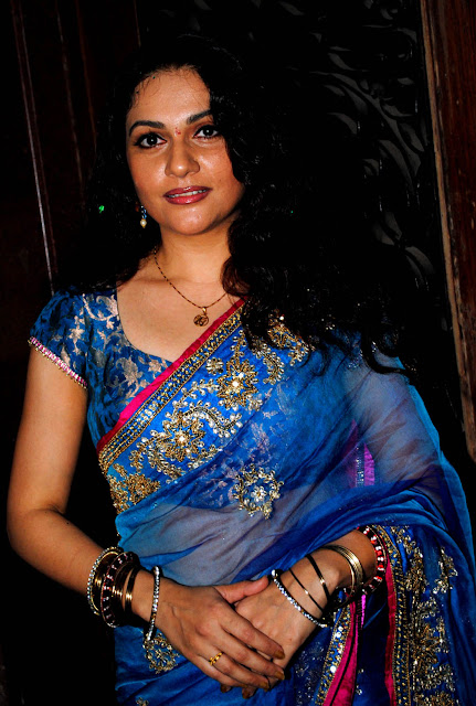 Bollywood Actress Gracy Singh Photo Shoot In Black Saree