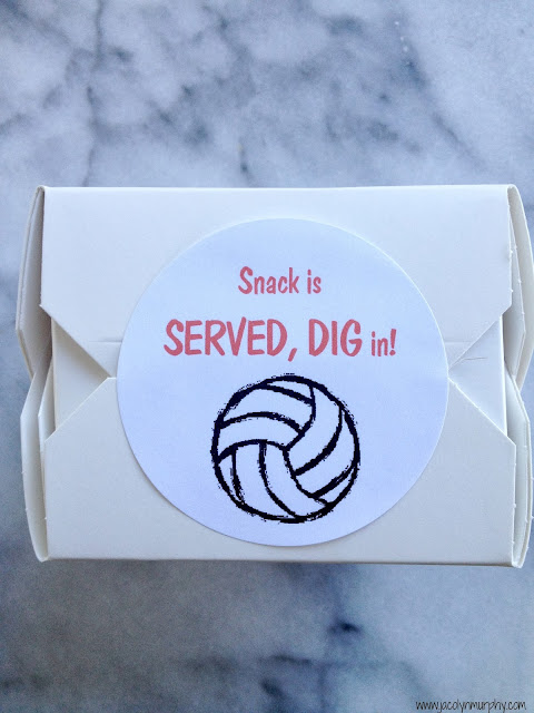 Volleyball Team Snack Ideas www.jacolynmurphy.com
