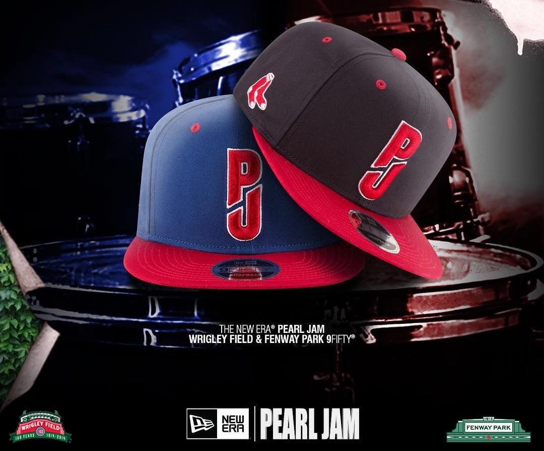 "The Blot Says...  Pearl Jam x New Era ""Fenway""   ""Wrigley"" 9FIFTY Snapback  Hats b29d1b78fa24"