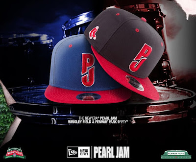 Pearl Jam x New Era Boston Red Sox Fenway Park & Chicago Cubs Wrigley Field 9FIFTY Snapback Hats