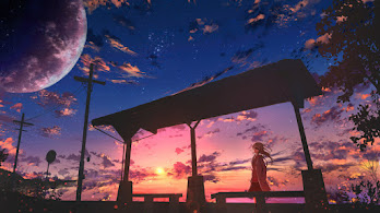 Anime, Scenery, Sunset, 4K, #4.2454